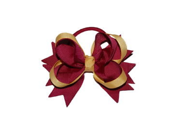 Pony Big Bow - Maroon/Gold